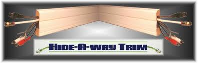 buy the patent hideaway trim baseboard moulding that hides wires