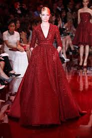 charming evening dresses gown in red three quarter sleeves with