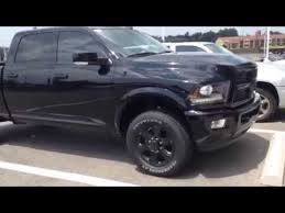 blacked out dodge truck ram 2500 crew cab black out package review