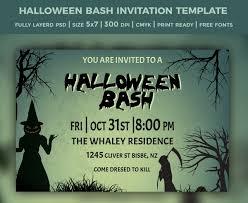 35 halloween invitation free psd vector eps ai format