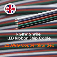5 wire led light rgbw cable 5 wire led strip light extension power cable top