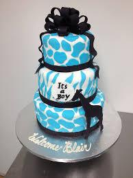 giraffe baby shower cake blue safari ba shower cakes party xyz within blue giraffe baby