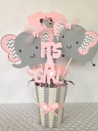 pink and gray baby shower pink and gray elephant ba shower centerpiece pink and gray elephant