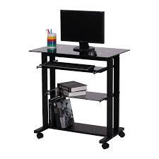 Portable Laptop Desk On Wheels Furniture Laptop Desk On Wheels Compact Computer Table Best