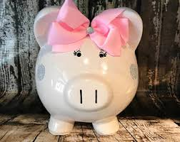 his and piggy bank piggy bank etsy