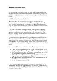 Sample Resume Templates For Highschool Students Example Resume For High Students College Applications