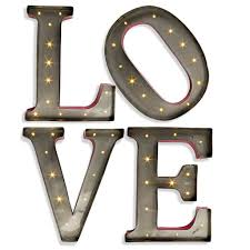 metal letters amazon com 15 metal led lighted love letters gerson wall