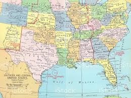 road map of southeast us map of southern us
