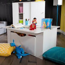 Kids Activity Desk by Southshore Storit Kids Activity Table With Toy Box On Wheels In