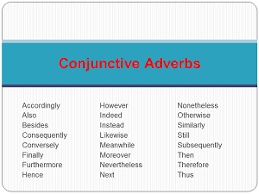 using types of conjunctive adverbs study com