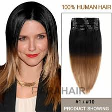 ombre extensions buy 16 two colors 1 and 10 ombre hair extensions cheap