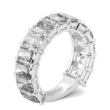 wedding band for women classic emerald cut lab created diamond wedding band for women