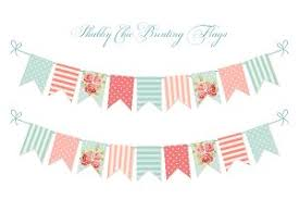 cute vintage heart shaped shabby chic textile bunting flags