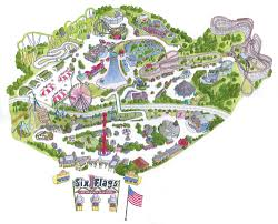 Kentucky Kingdom Six Flags Large Maps U2014 Studiorozzi