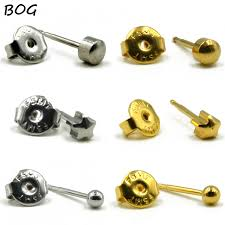 12pairs 24k gold surgical steel sterile ear piercing studs