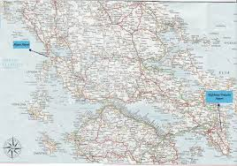 Delphi Greece Map by Greece Road Map Greece U2022 Mappery