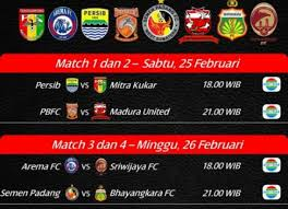Jadwal Piala Presiden 2018 8 Besar Piala Presiden Minggu 26 Februari 2017