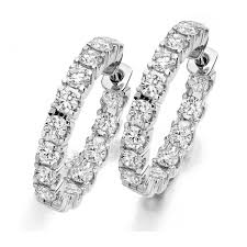 white gold diamond hoop earrings the raphael collection 18ct white gold brilliant cut diamond