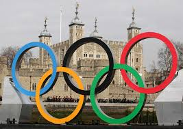 olympic rings london images Giant olympic rings are launched on the river thames zimbio jpg