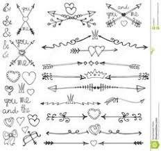 hearts arrows vector png illustrations by white