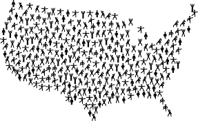 United States Map Black And White by Clipart Of A United States Map Of Fitness People