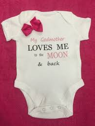 godmother gifts to baby nonna auntie nanny moon back or godmother onesie 1 x bodysuit or