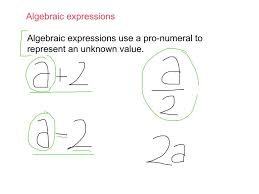 year 7 algebraic expressions youtube