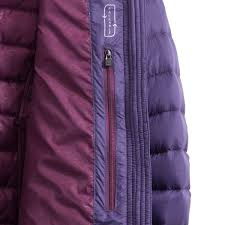 purple feather ems women s feather pack hooded jacket eastern mountain sports