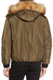 andrew marc knox faux fur trimmed er jacket nordstrom rack