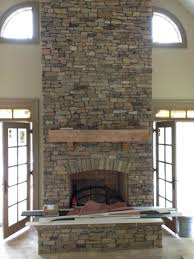 stacked stone fireplace decorating ideas diy surround veneer white