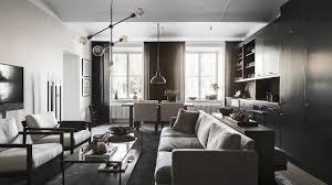scandinavian apartment black wood furniture youtube