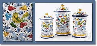 Tuscan Canisters The Best Tuscan Kitchen Canisters From Italy