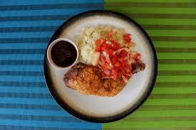 papa cuisine chicken and atseke picture of papa cuisine accra tripadvisor