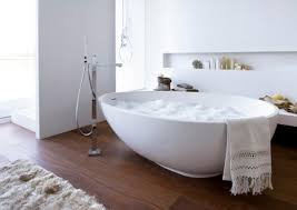 Bathrooms With Freestanding Tubs by Copper Soaking Tub In Small Bathroom With Black Wrought Iron