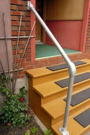 2 Step Handrail Easy To Install Outdoor Stair Railing Simplified Building