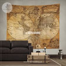 vintage orld map wall tapestry historical world map wall hanging vintage orld map wall tapestry historical world map wall hanging antique old map wall
