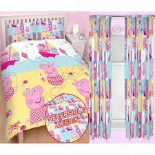 Peppa Pig Duvet Cover 100 Cotton Peppa Pig Duvet Cover Ebay