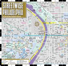 Chester Pa Map Streetwise Philadelphia Map Laminated City Center Street Map Of