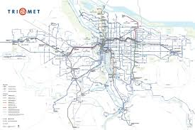 map of just oregon new official map trimet system map transit maps