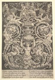 master of the die a panel of ornament with a holding a