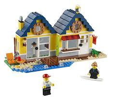 amazon com lego creator beach hut toys u0026 games