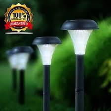 white plastic outdoor lighting 1 set of 10 plastic garden led white light solar lawn lights pathway