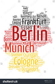 Essen Germany Map by Germany Map Flag Word Cloud Tag Stock Vector 192700283 Shutterstock