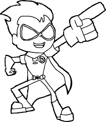 robin teen titans robin coloring pages wecoloringpage