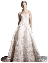 satin ball gown wedding dress with ombre beaded lace appliques myria