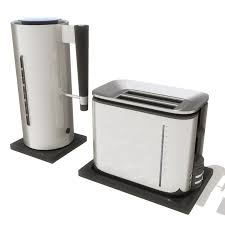 Toaster And Kettle Toaster Set 3d Ma