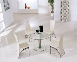 Glass Dining Table And Chairs Mini Round Vo1 Ice Glass Dining Table Glass Dining Table And