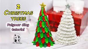 christmas tree 2 diy easy polymer clay tutorial irina