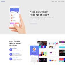 cool app websites wordpress theme for amazinx mobile app responsive one page website