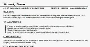 Sample Resume For Sap Abap 1 Year Of Experience by Mcom Resume Samples For Freshers
